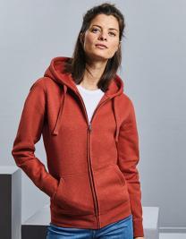 Ladies´ Authentic Melange Zipped Hood Sweat